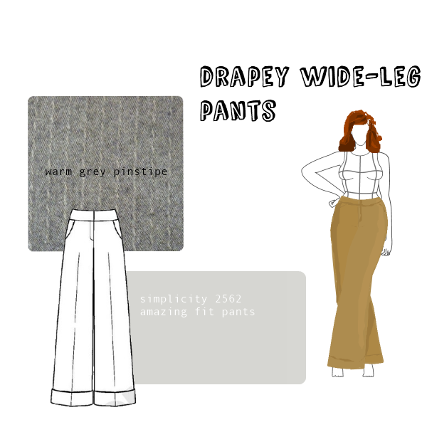 wide leg pants tutorial - Pi Pants